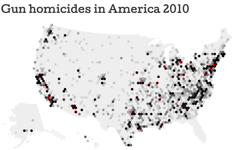 Maps Historic Firearm Diplomacy - Us gun murders map